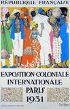 The Paris Colonial Exhibition (or 'Exposition coloniale internationale', International Colonial Exhibition) was a six-month colonial exhibition held in Paris, France in 1931 that attempted to display the diverse cultures and immense resources of France's colonial possessions.