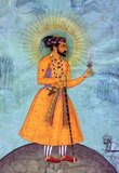 Shahab-ud-din Muhammad Khurram Shah Jahan I (1592 –1666), or Shah Jahan, from the Persian meaning 'king of the world', was the fifth Mughal ruler in India and a favourite of his legendary grandfather Akbar the Great.<br/><br/>  He is best known for commissioning the 'Phadshahnamah' as a chronicle of his reign, and for the building of the Taj Mahal in Agra as a tomb for his wife, Mumtaz Mahal. Under Shah Jahan, the Mughal Empire attained its highest union of strength and magnificence. The opulence of Shah Jahan's court and his famous Peacock Throne was the wonder of all the European travelers and ambassadors. His political efforts encouraged the emergence of large centers of commerce and crafts—such as Lahore, Delhi, Agra and Ahmedabad—linked by roads and waterways to distant places and ports.  He moved the capital from Agra to Delhi. Under Shah Jahan's rule, the Red Fort and Jama Masjid in Delhi were built, the Shalimar Gardens of Lahore, sections of the Lahore Fort and his father's mausoleum.